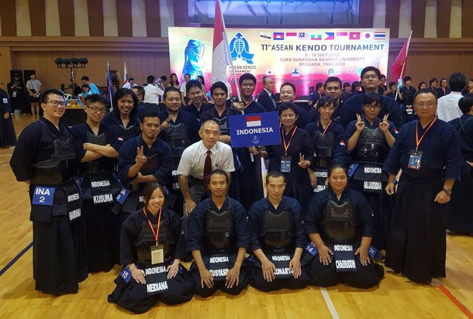 Indonesia Kendo Association presenting Indonesian in ASEAN Kendo Tournament 2016, Bangkok, Thailand