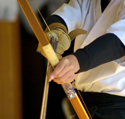 kyudo samurai panahan glove