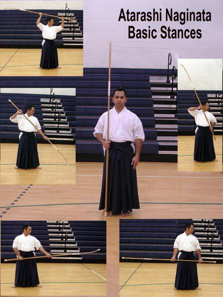 naginata technics basic stances kamae