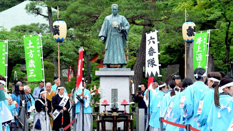 shinsengumi festival hijikata toshizo statue