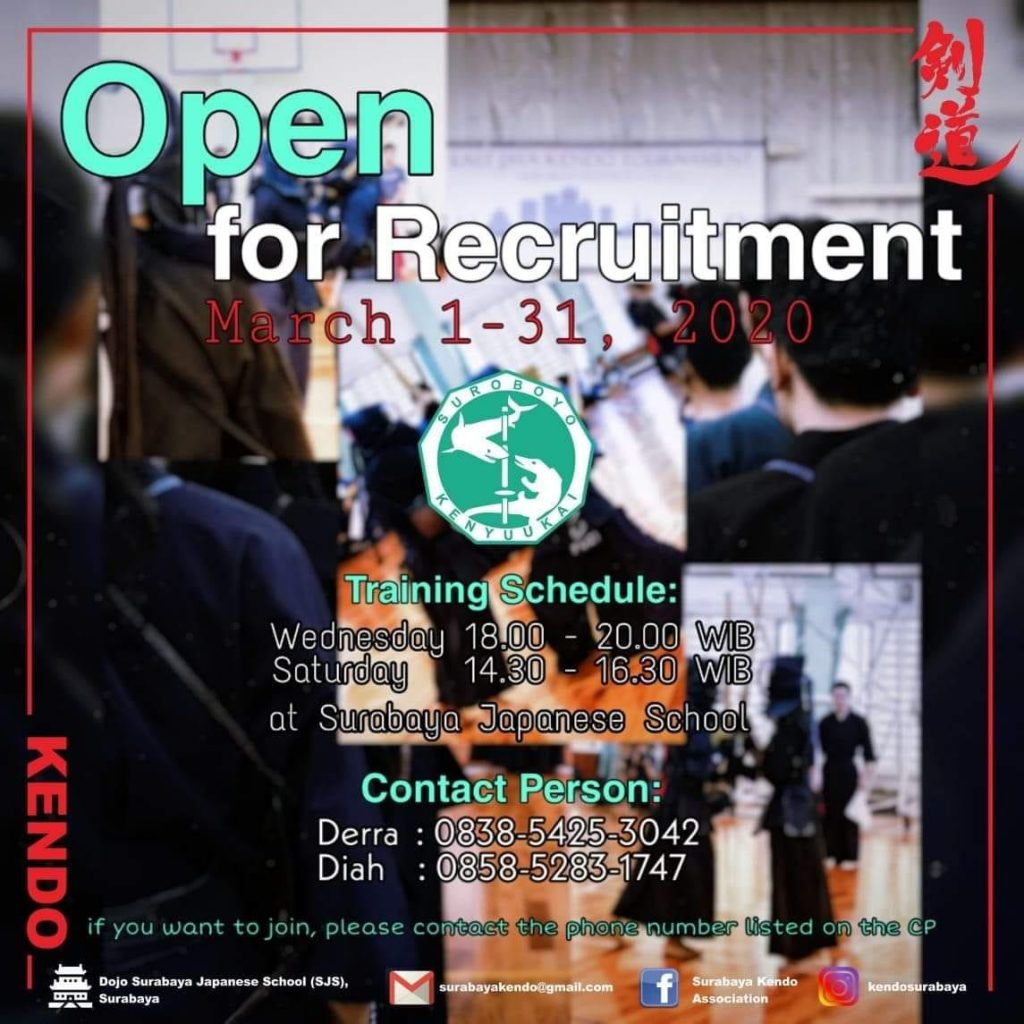 Surabaya Kendo Open Recruitment 2020
